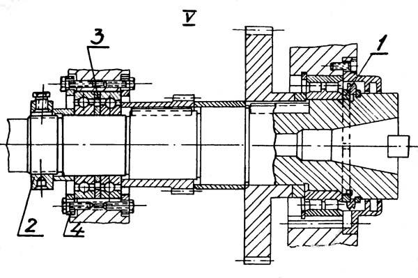 Регулирование подшипников горизонтального шпинделя 6М82Ш
