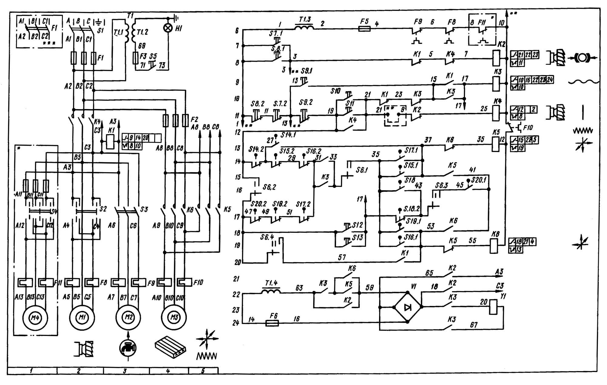Фрезерный станок 6р12 электрическая схема