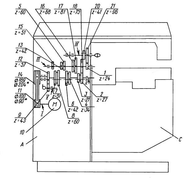 Кинематическая схема 6Т80