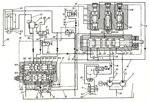 7Д430 Гидравлическая Схема
