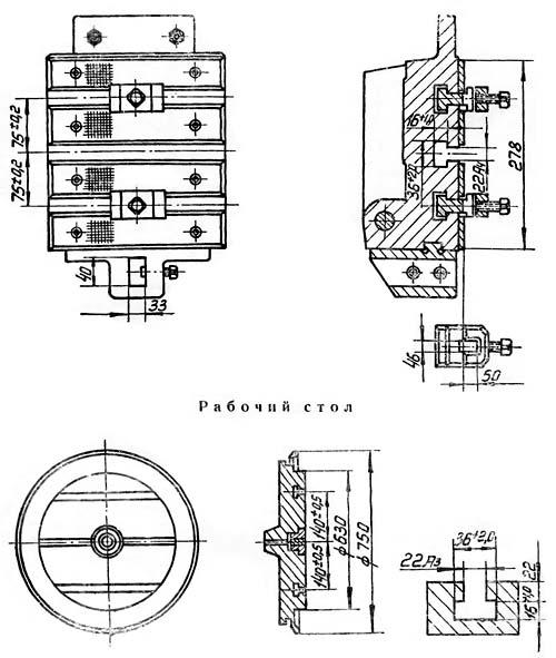 Посадочные и присоединительные базы долбежного станка 7М430