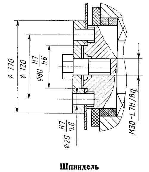 Посадочные и присоединительные базы отрезного станка 8Г663