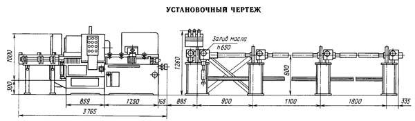 8Г663 Установочный чертеж отрезного станка