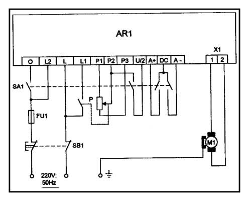 Схема электрическая токарно-винторезного станка  Aiken-180