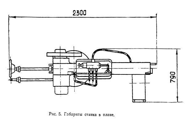 Габаритные размеры торцовочного станка ЦПА-40