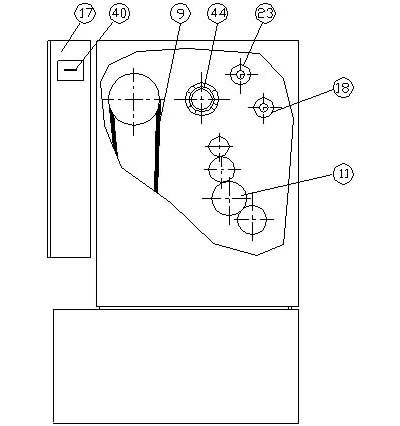 СУ-500 (CU 500) Расположение составных частей органов управления токарно-винторезным станком