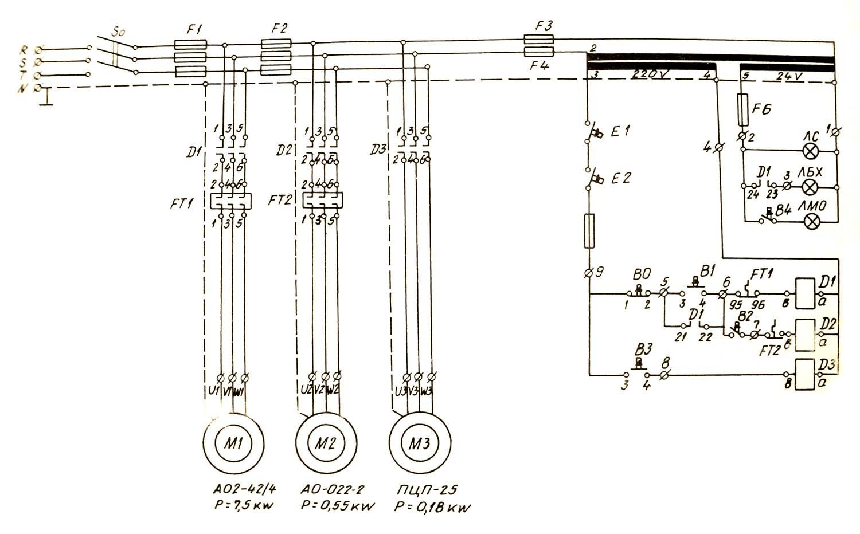 16к20 принципиальная схема