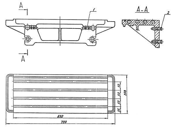 Присоединительные базы станка ФС-250 (ФС250). Горизонтальный стол