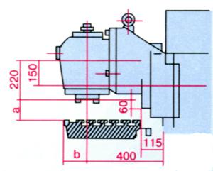 FU-400, FU-315 Габарит рабочего пространства широкоуниверсального консольно-фрезерного станка