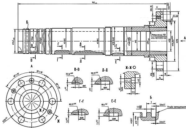 Станок токарно-винторезный ГС526У. Посадочные и присоединительные базы Шпиндель