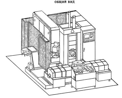 Габарит рабочего пространства многоцелевого станка с ЧПУ и АСИ ИС-800
