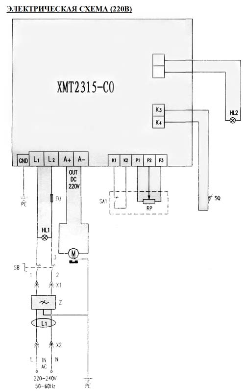 Схема электрическая токарного станка Jet BD-3
