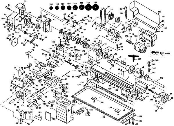 Корвет-400 Схема сборки токарно-винторезного станка