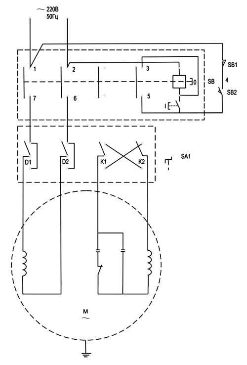 Корвет-407 Схема электрическая