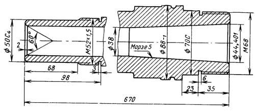 Посадочные и присоединительные базы токарно-винторезного станка ЛТ-10, ЛТ-11. Шпиндель