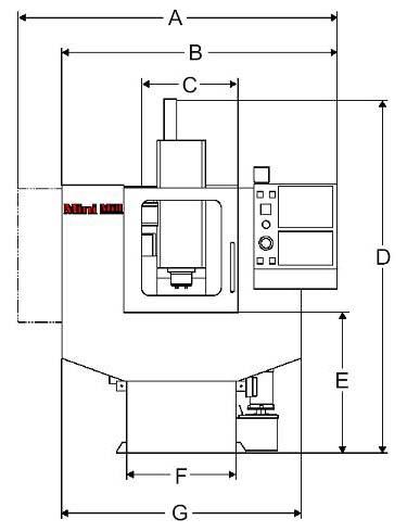 Mini Mill габаритные размеры фрезерного вертикального компактного обрабатывающего центра
