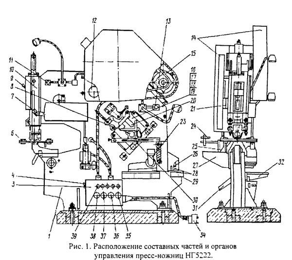 нг-5222 Составные части комбинированных пресс-ножниц