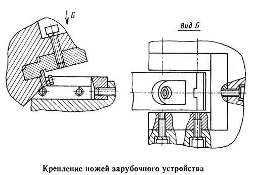 НВ5222 крепление ножей зарубочного устройства
