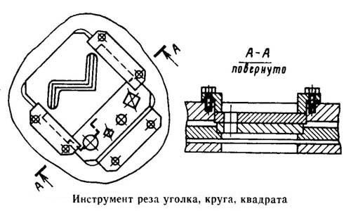 НВ5222 Крепление ножей резки уголка, круга, квадрата