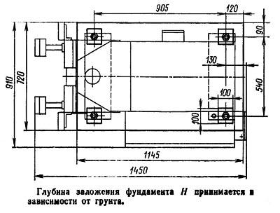 П6320 Установочный чертеж гидравлического пресса