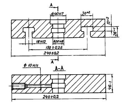 П6324Б Посадочные и присоединительные базы гидропресса