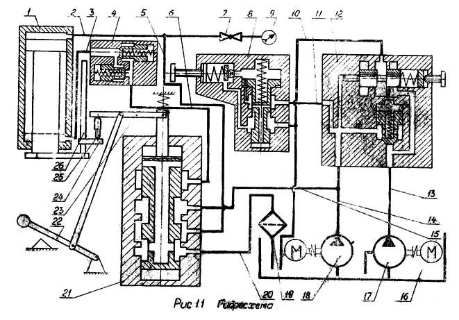 П6324 гидросхема пресса