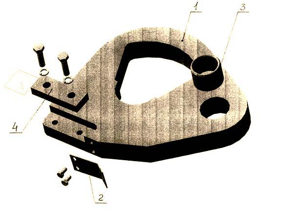 смж-172а Станок для резки арматуры. Кулиса в сборе
