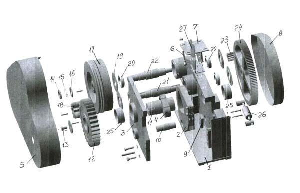 СМЖ-172А Cхема сборки станка для резки арматуры