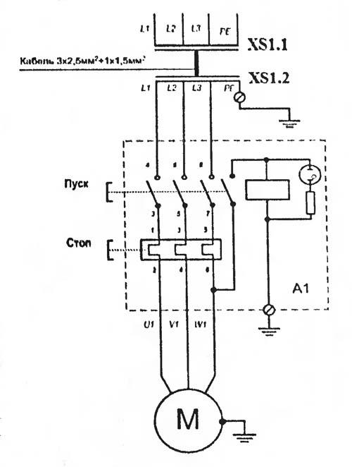 СМЖ-172 Схема электрическая станка для резки арматуры