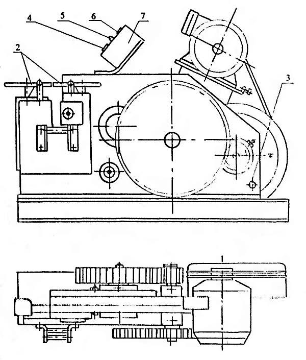 Расположение органов управления станком для резки арматуры СМЖ-172