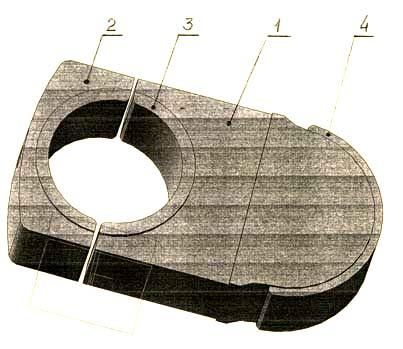 смж-172а Станок для резки арматуры. Вкладыш в сборе