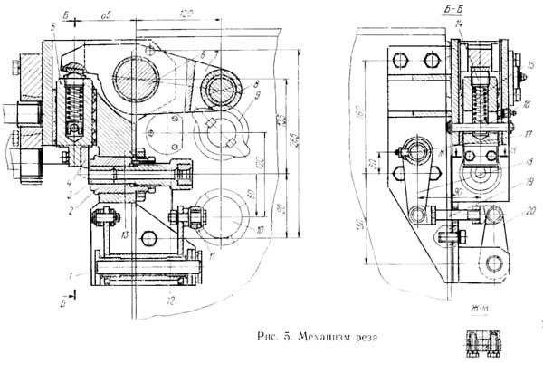 СМЖ-357 Механизм реза станка для правки и резки арматуры