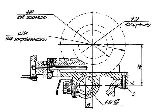 ТН-1М Станок токарно-винторезный. Габариты рабочего пространства