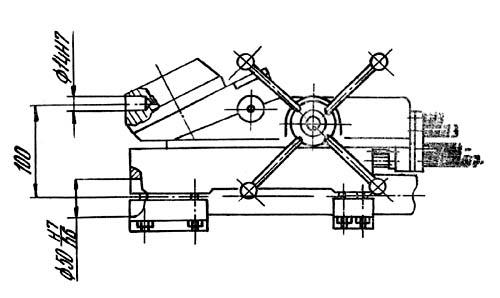ТН-1М Станок токарно-винторезный. Чертеж револьверной головки
