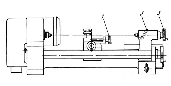 ТН-1М Расположение составных частей токарно-винторезного станка