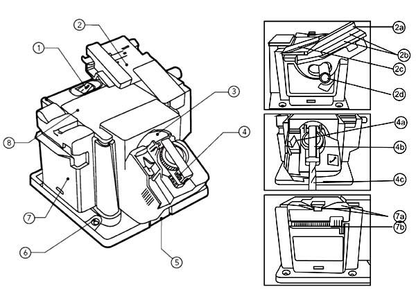 ТС-6010С Расположение составных частей заточного станка
