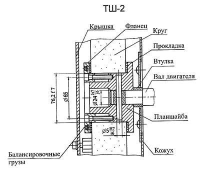 ТШ-2 Крепление шлифовального круга точильно-шлифовального станка