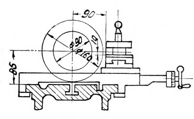 ТВ-16 Габаритные размеры рабочего пространства токарно-винторезного станка