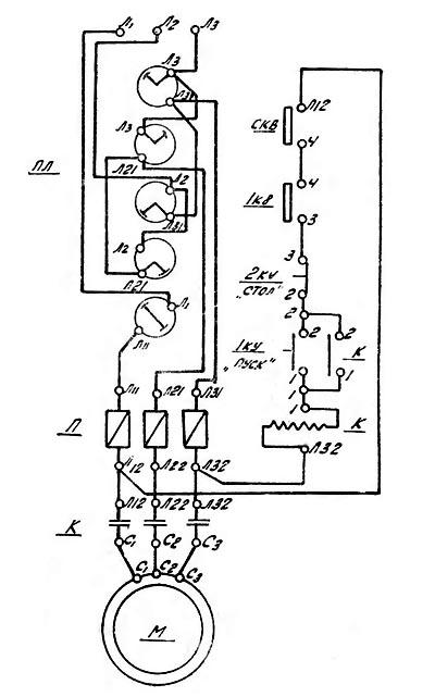 ТВ-16 Схема электрическая