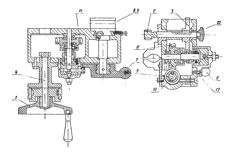 схема реверс редуктора токарного станка