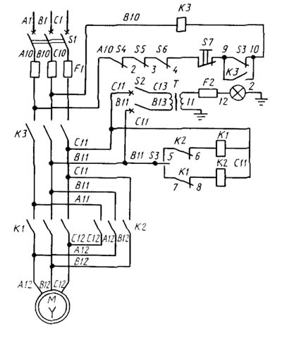 ТВ-11 Схема электрическая токарно-винторезного станка