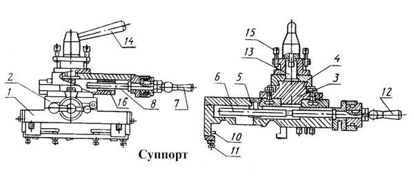 ТВ-9 Суппорт станка токарно-винторезного станка