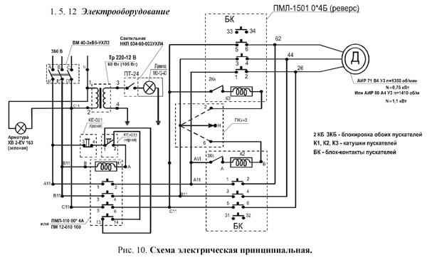 ТВ-9 Схема электрическая токарно-винторезного станка