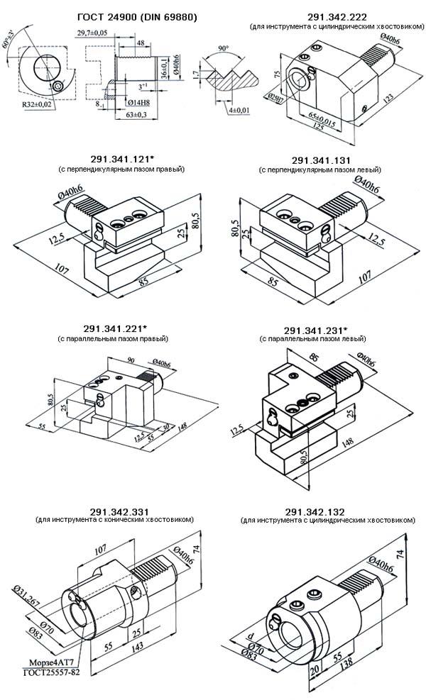 Резцедержатели с цилиндрическим хвостовиком для токарных станков с ЧПУ