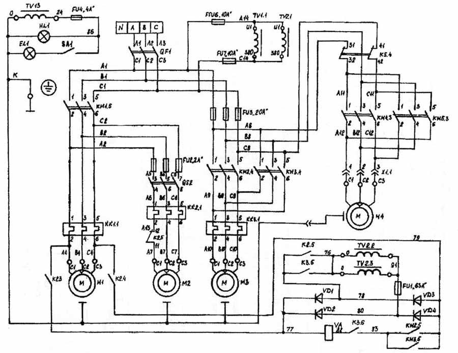 Фрезерный станок 6р12 электрическая схема фото 265