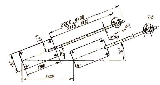 11Т16А Схема установочная токарно-продольного станка автомата 11Т16А