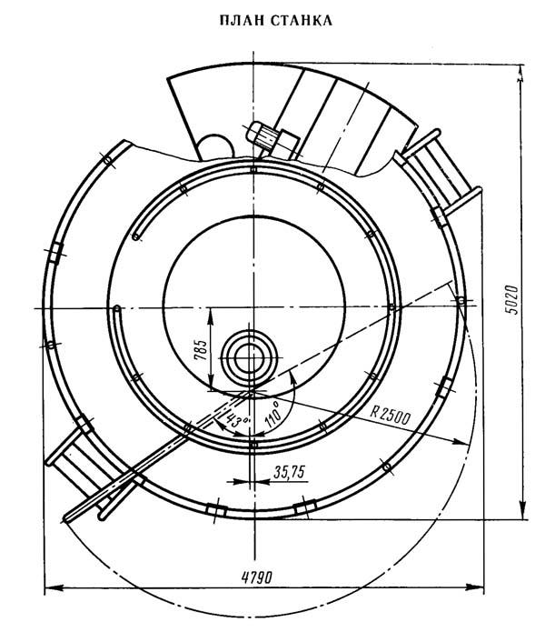 1286-6 План вертикального многошпиндельного токарного станка