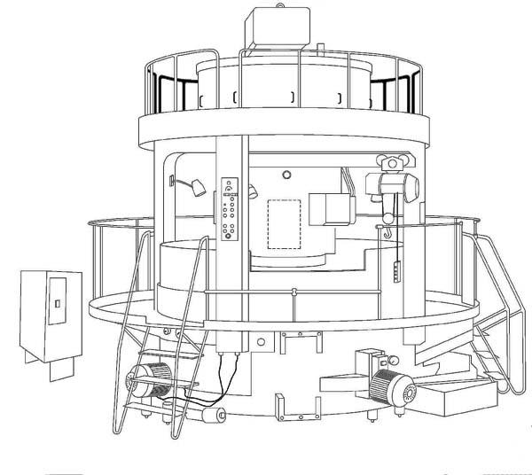 Конструкция вертикального многошпиндельного токарного станка 1286-6