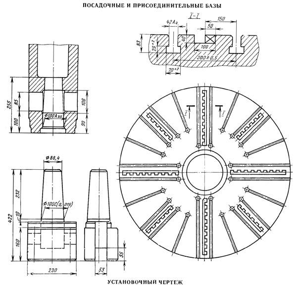 1540Ф1 Габарит рабочего пространства и чертеж общего вида станка