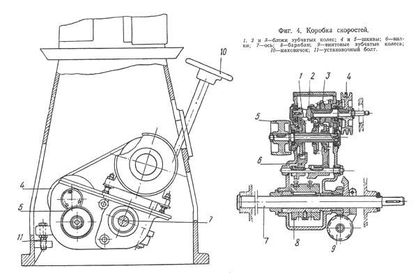 Коробка скоростей токарно-винторезного станка 1612п, 1612в